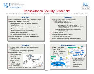 Framework for enhancing transportation security Originated from the need for: