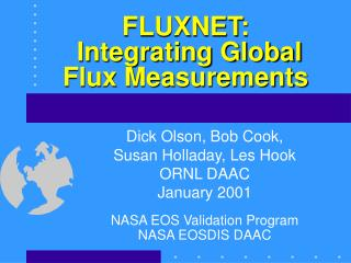 FLUXNET:  Integrating Global Flux Measurements