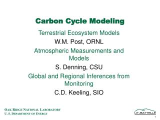 Carbon Cycle Modeling