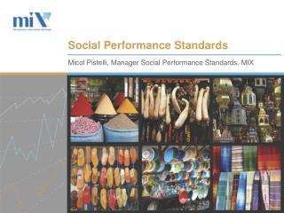 Social Performance Standards