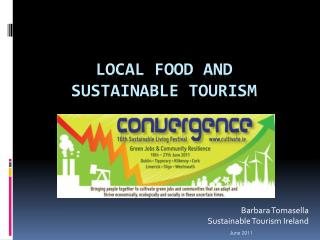 LOCAL FOOD and SUSTAINABLE TOURISM