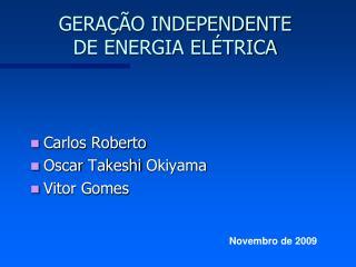 GERAÇÃO INDEPENDENTE DE ENERGIA ELÉTRICA