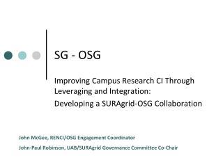 SG - OSG