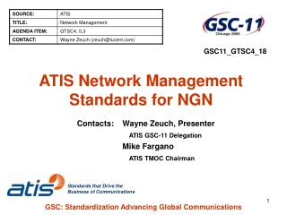 ATIS Network Management Standards for NGN