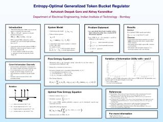 Introduction  Token Bucket Regulator (TBR) used at network ingress to smoothen subscriber traffic