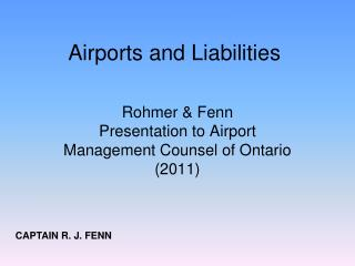 Airports and Liabilities