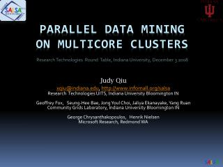 parallel data mining  on multicore clusters