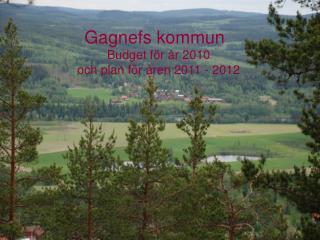 Budget för år 2010 och plan för åren 2011 - 2012