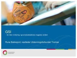 GSI  - En liten innføring i grunnskoletallenes magiske verden