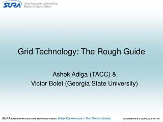 Grid Technology: The Rough Guide