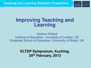 Andrew Pollard Institute of Education, University of London, UK