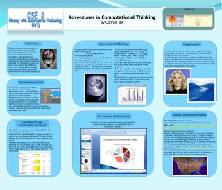 Adventures in Computational Thinking By Connie Tae