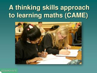A thinking skills approach to learning maths (CAME)