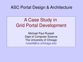 ASC Portal Design & Architecture