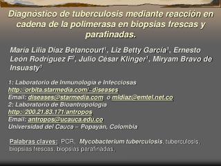 1: Laboratorio de Inmunología e Infecciosas orbita.starmedia/~diseases