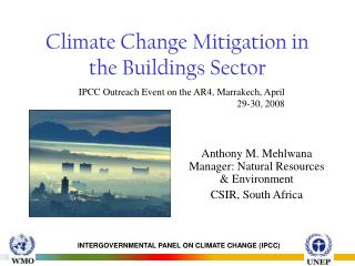 Climate Change Mitigation in the Buildings Sector