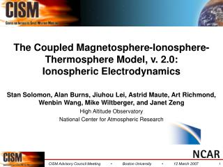 The Coupled Magnetosphere-Ionosphere-Thermosphere Model, v. 2.0: Ionospheric Electrodynamics