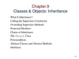Chapter.9 Classes  Objects: Inheritance