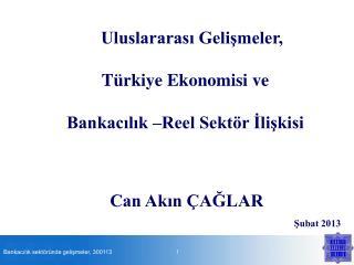 Uluslararası Gelişmeler, Türkiye Ekonomisi ve  Bankacılık –Reel Sektör İlişkisi