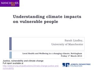 Understanding climate impacts on vulnerable people
