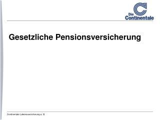 Gesetzliche Pensionsversicherung