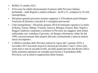 ROMA 31 ottobre 2012,