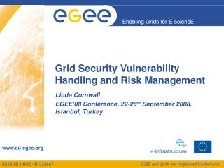 Grid Security Vulnerability Handling and Risk Management