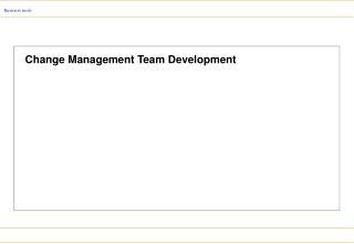Change Management Team Development