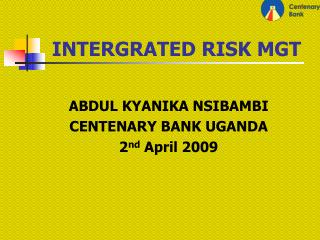 INTERGRATED RISK MGT