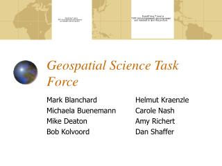 Geospatial Science Task Force