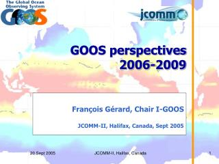 GOOS perspectives 2006-2009
