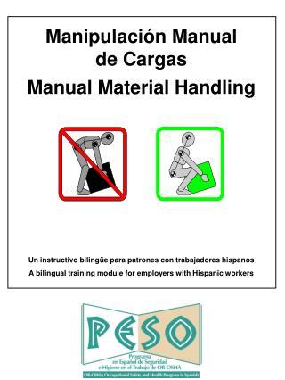 Manipulaci n Manual de Cargas Manual Material Handling