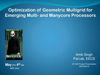 Optimization of Geometric Multigrid for Emerging Multi- and Manycore Processors