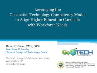 Leveraging the  Geospatial Technology Competency Model  to Align Higher Education Curricula