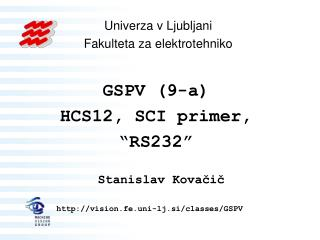HCS12 – uporaba SCI