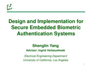 Design and Implementation for Secure Embedded Biometric Authentication Systems