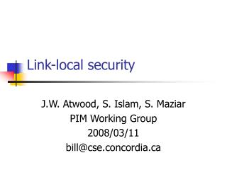 Link-local security