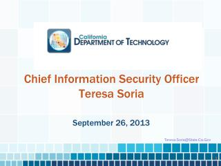 Chief Information Security Officer Teresa Soria