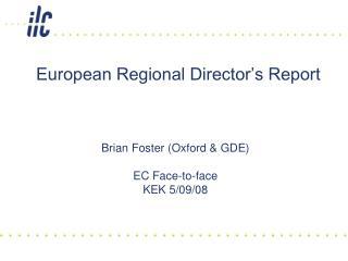 European Regional Director's Report