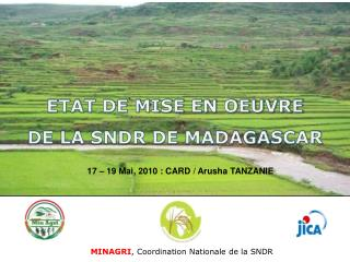 MINAGRI , Coordination Nationale de la SNDR