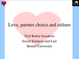 Love, partner choice and culture