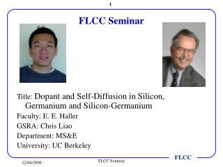 FLCC Seminar