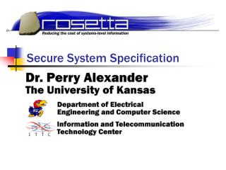 Secure System Specification