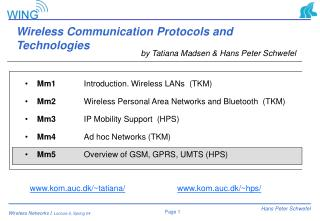 Wireless Communication Protocols and Technologies