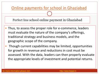 View about online payment for school in Ghaziabad
