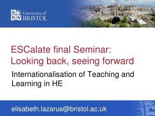 ESCalate final Seminar:  Looking back, seeing forward