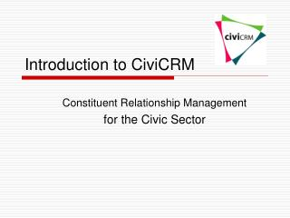 Introduction to CiviCRM