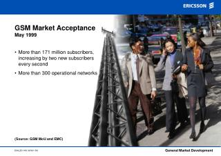 GSM Market Acceptance May 1999