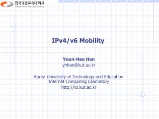 IPv4/v6 Mobility