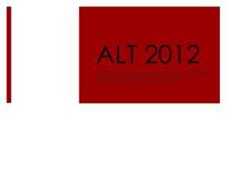 ALT 2012